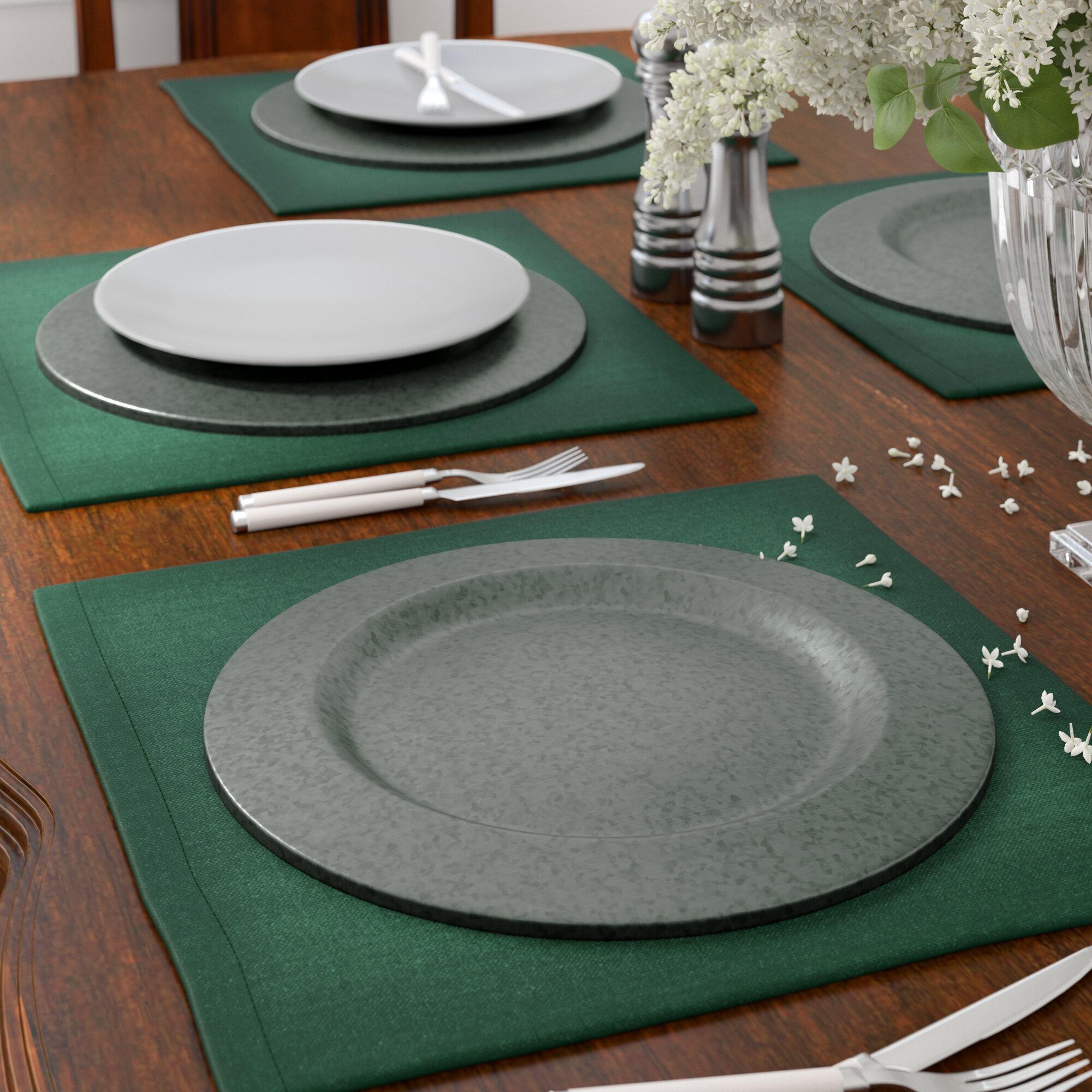 Astoria Grand Josh Galvanized Charger Plate Set Reviews Wayfair