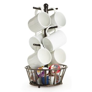 Band and Stripe Mug Tree