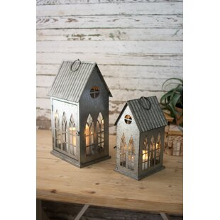 House 2 Piece Metal Lantern Set by Charlton Home