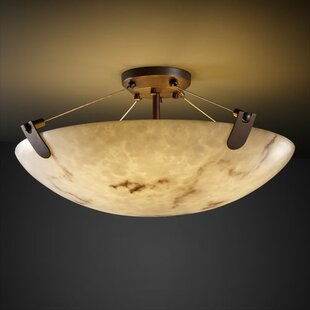 Keyon 3-Light Semi Flush Mount by Brayden Studio