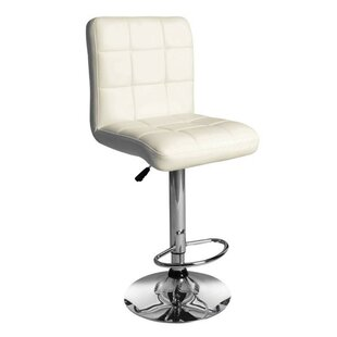 Roznin Adjustable Height Swivel Bar Stool (Set of 2) by Orren Ellis