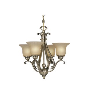 Three Posts Enfield 4-Light Shaded Chandelier