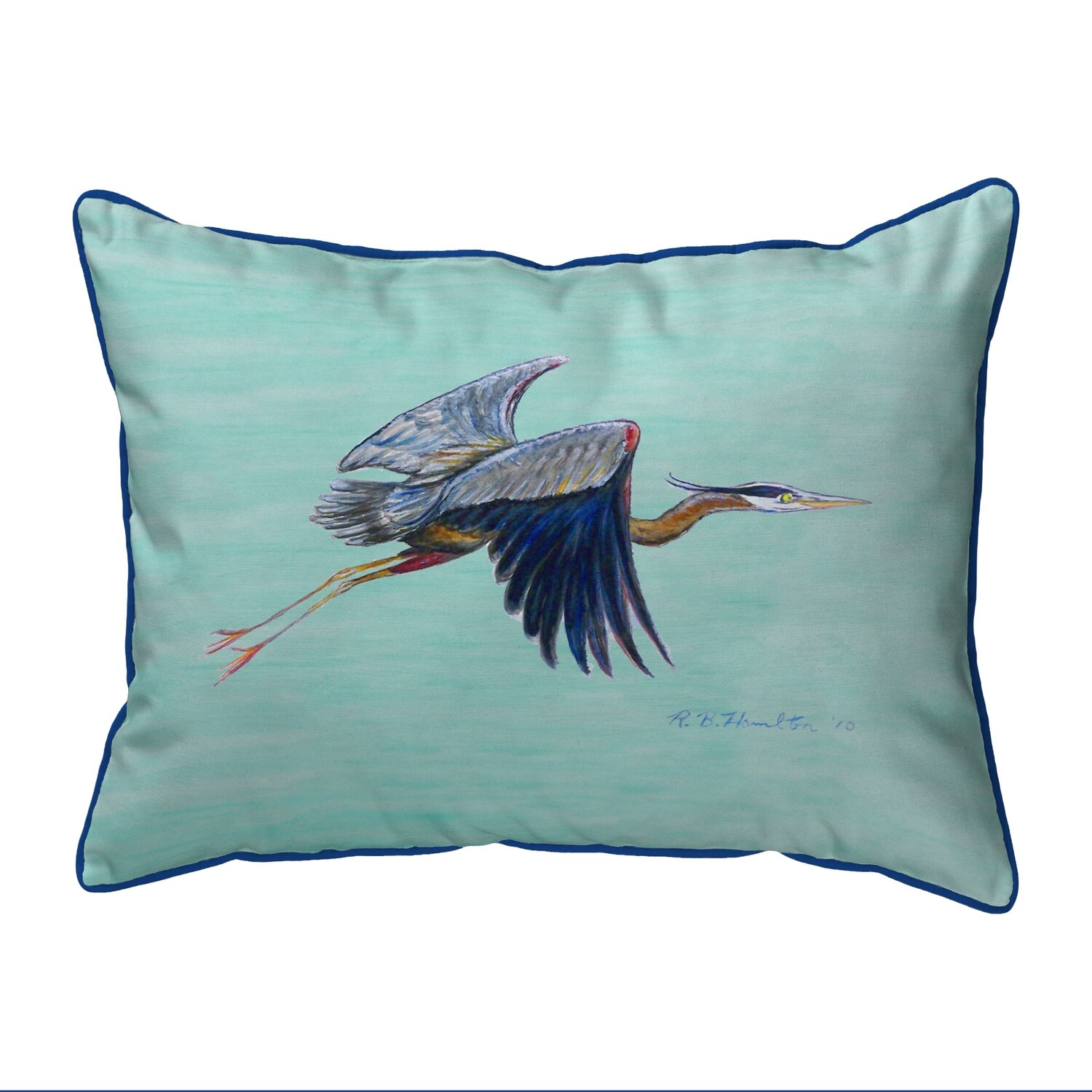Betsy Drake Interiors Flying Heron Indoor Outdoor Lumbar Pillow Reviews Wayfair