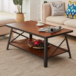 Great choice Houon Solid Wood Coffee Table by Millwood Pines