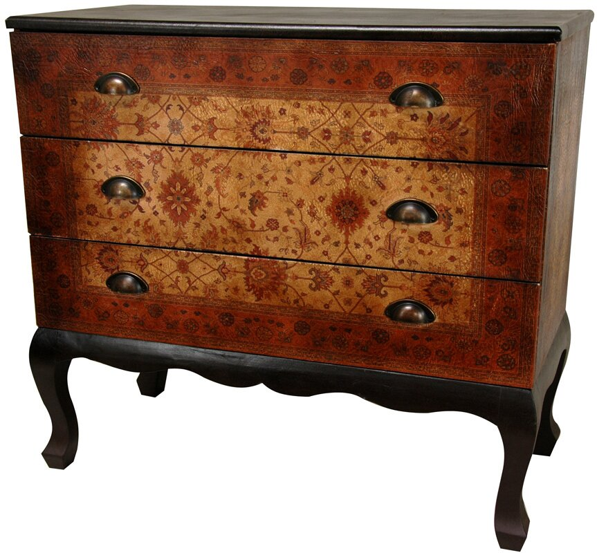 Clair Euro 3 Drawer Console Table