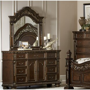 Astoria Grand Pettiford 9 Drawer Dresser with Mirror
