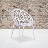 Keeney Contemporary King Louis Back Side Chair in Clear by Orren Ellis