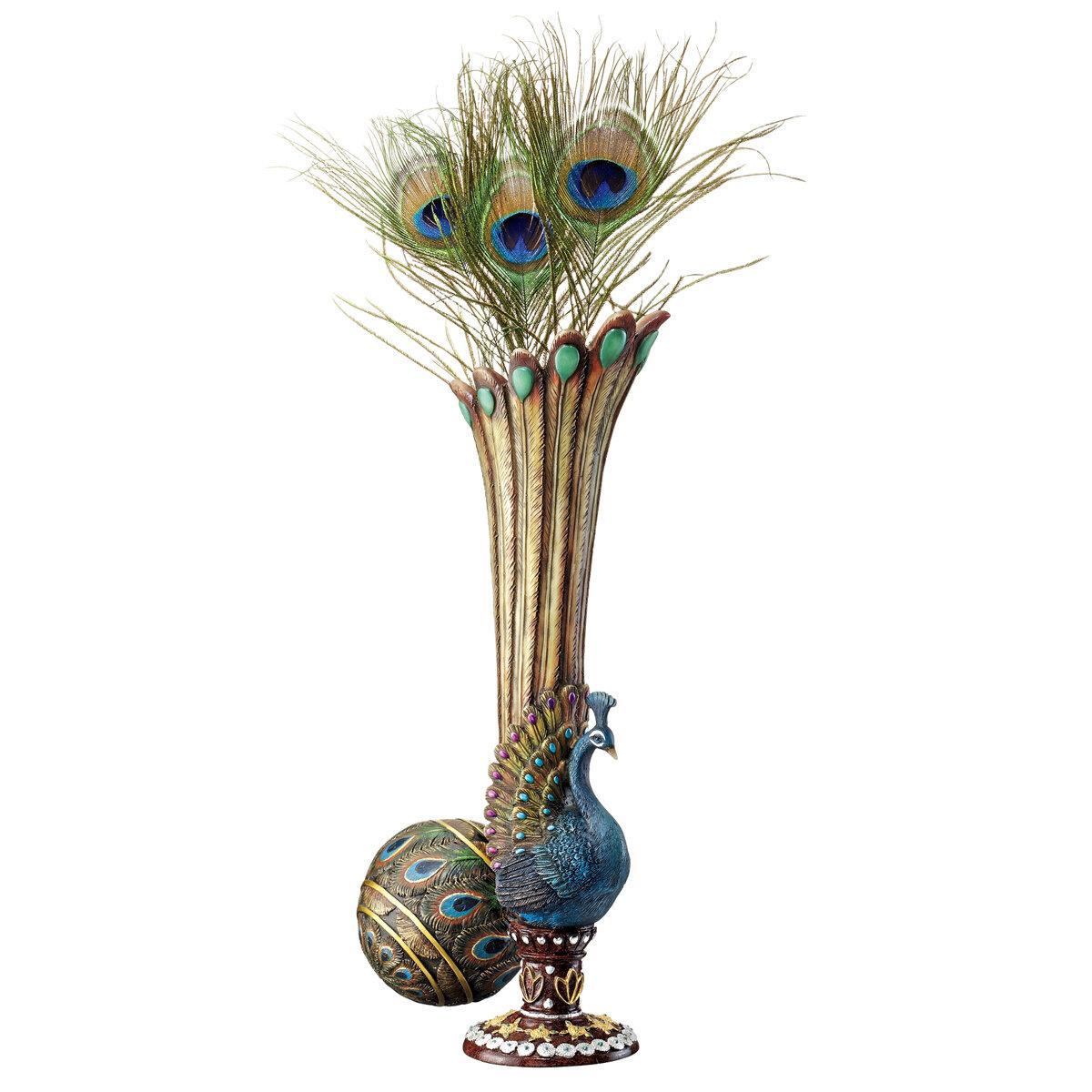 Design toscano peacock bud vase reviews wayfair reviewsmspy