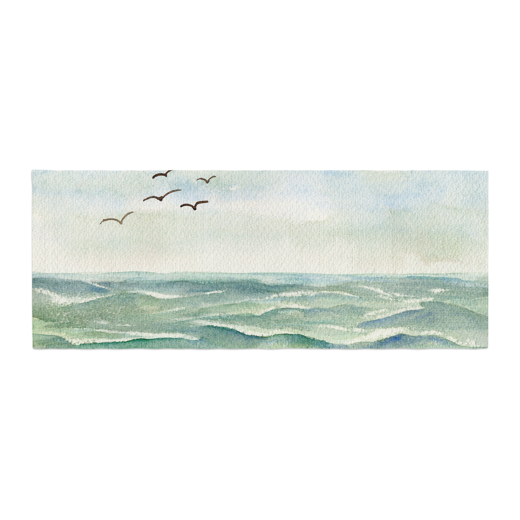 East Urban Home Cyndi Steen Flock Flying Low Coastal Single Shower Curtain