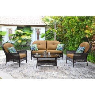 Kinnison 4 Piece Sofa Set with Cushions