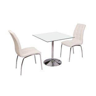 Myndi Dining Set With 2 Chairs By Metro Lane