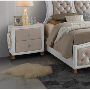 Everly Quinn Lees 2 Drawer Nightstand