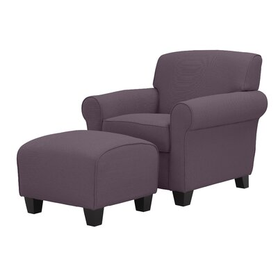 Aine Armchair and Ottoman Upholstery Color: Amethyst Purple Linen by Andover Mills
