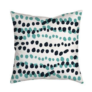 Connect the Polka Dots Indoor/Outdoor Throw Pillow