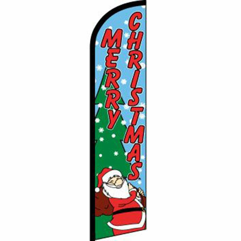 Neoplex Christmas Polyester 138 X 38 In Feather Banner Wayfair