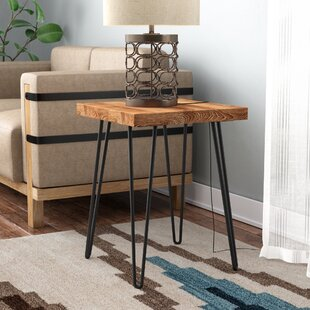 Lerner Old Elm Wood End Table Union Rustic