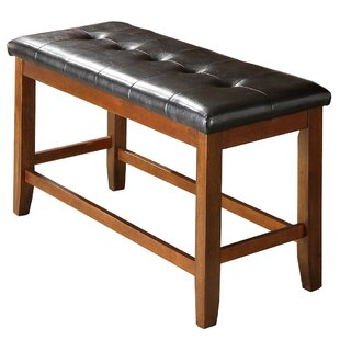 Brill Faux Leather Bench by Loon Peak
