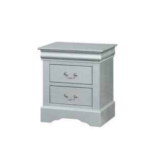 Petrovich Wooden 2 Drawer Nightstand by Charlton Home