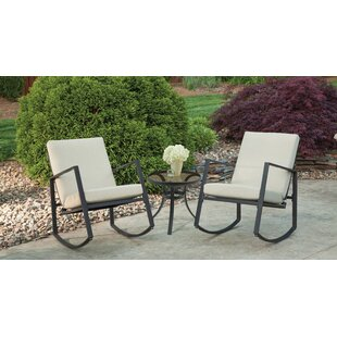 Aurora 3 Piece Cushion Rocking Bistro Set