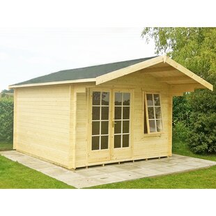Weitzman 10 X 12 Ft. Tongue And Groove Log Cabin By Sol 72 Outdoor