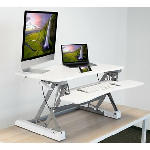 Megan Standing Desk Converter by Symple Stuff Amazing