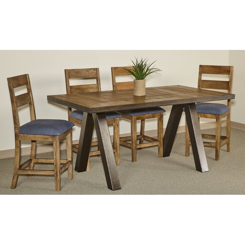 Waldrop Solid Wood Counter Height Dining Table