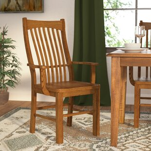 Corwin Slatback Solid Wood Dining Chair (..