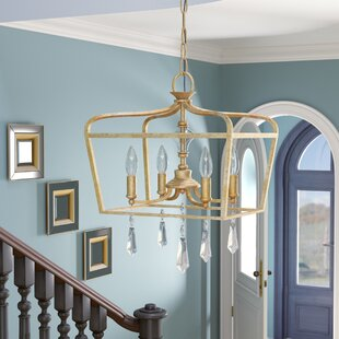 Fealty Traditional 4-Light Lantern Pendant by Willa Arlo Interiors