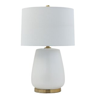 Southam Ceramic Metal Base and Linen Shade 26