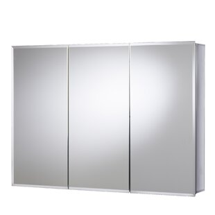White Triple Door 121.9cm X 76.2cm Surface Mount Mirror Cabinet By Belfry Bathroom