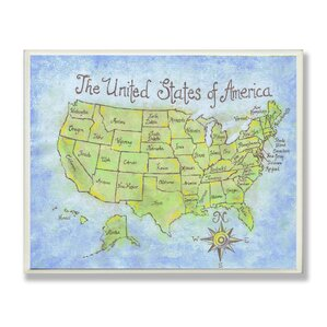 Kids Wall Plaques Youll Love Wayfair - Owl and mouse us map