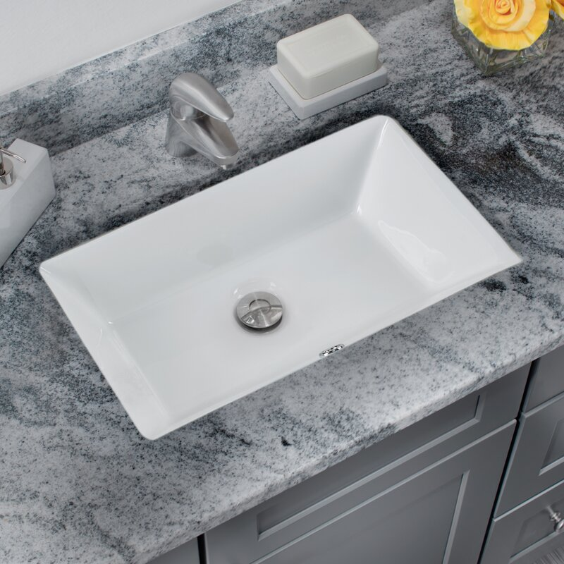 Soleil Glazed Vitreous China Rectangular Undermount Bathroom Sink With Overflow Reviews Wayfair