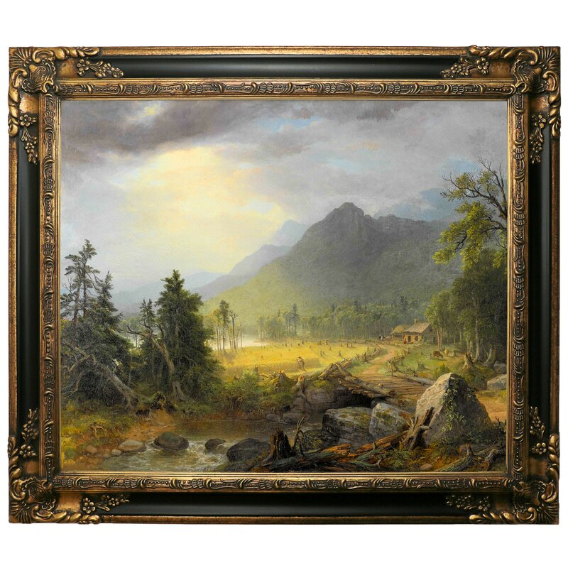 Astoria Grand The First Harvest In The Wilderness 1855 Framed Graphic Art Print On Canvas Wayfair