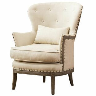 Jeffers Demi Wing Back Fabric Accent Wingback Chair by One Allium Way