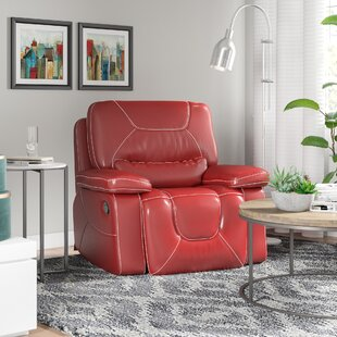 Lockheart Leather Manual Glider Recliner by Latitude Run
