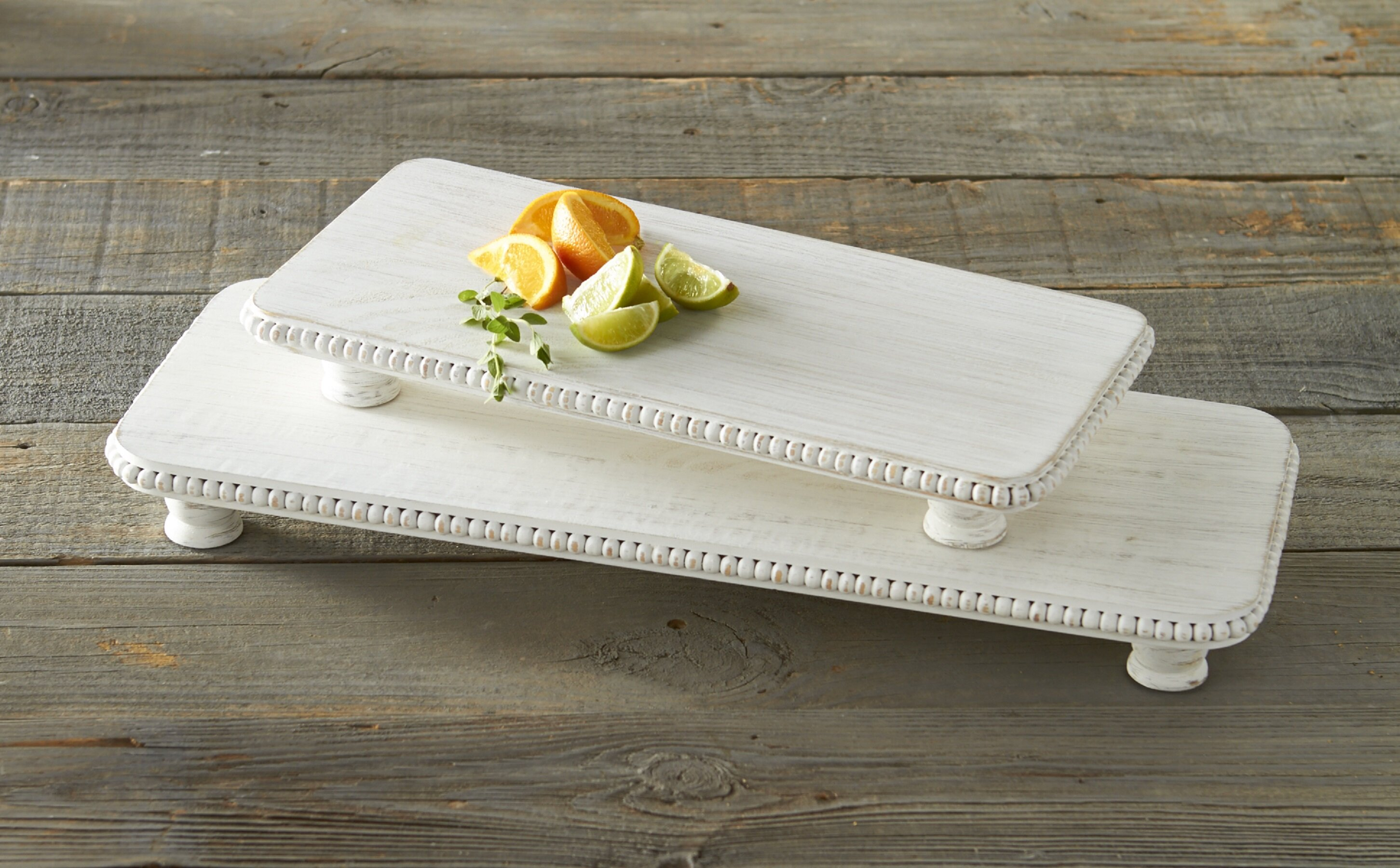 White Mud Pie Serving Trays Platters You Ll Love In 2021 Wayfair