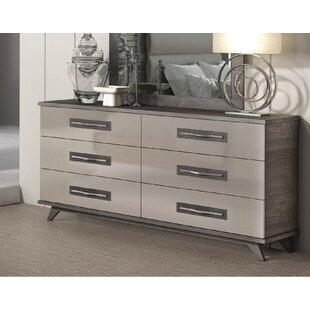Brayden Studio Luther 6 Drawer Double Dresser