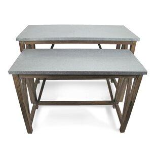 Gracie Oaks Monzon 2 Piece Console Table ..