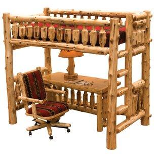 Cedar Right Ladder Twin Loft Bed by