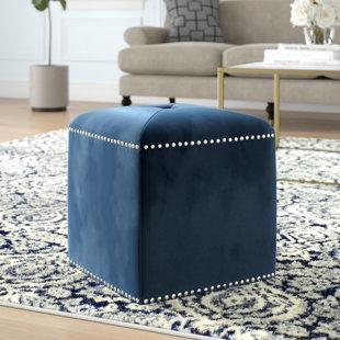 Kymani Glam Tufted Cube Ottoman by Mercer41