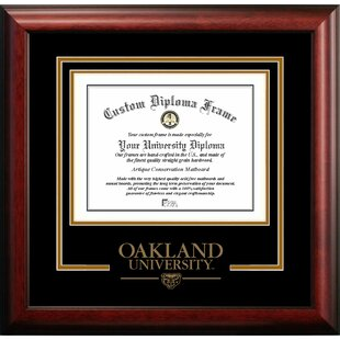 NCAA Oakland Golden Grizzlies Spirit Diploma Frame by Campus Images