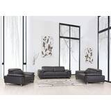 Allon 3 Piece Leather Living Room Set by Orren Ellis