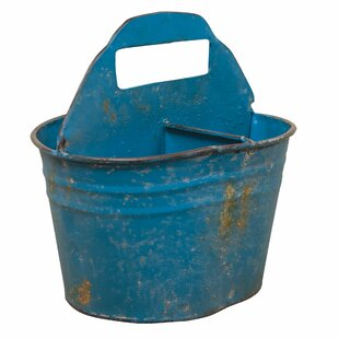 Check Prices Divided Metal Bucket By August Grove