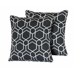 Autry Hexagon Square Outdoor Throw Pillow (Set of 2)