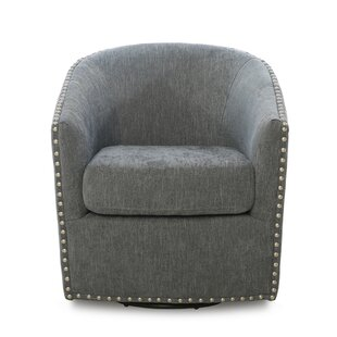 Brynn Swivel Barrel Chair by Darby Home Co