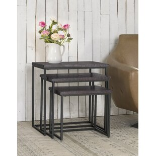 Benefield 3 Piece Nesting Tables by Gracie Oaks
