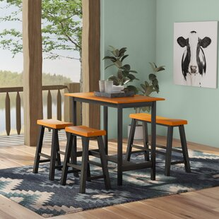 Kerley 4 Piece Dining Set Loon Peak