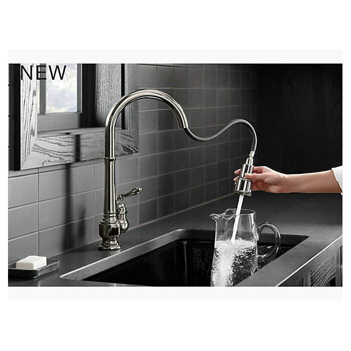 Artifacts Single-Hole Kitchen Sink Faucet with 17-5/8\