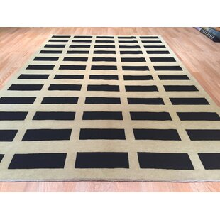 Compare prices Nepal Hand-Knotted Black/Beige Area Rug By Rug Tycoon