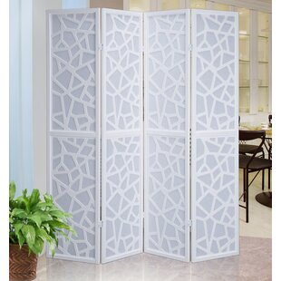 Roundhill Furniture Giyano Screen 4 Panel Room Divider